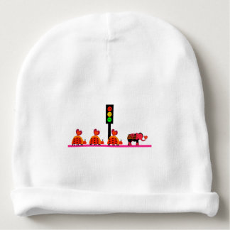 Moody Stoplight with Heart Caravan Baby Beanie