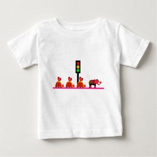 Moody Stoplight with Heart Caravan Baby T-Shirt