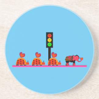 Moody Stoplight with Heart Caravan Coaster