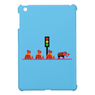 Moody Stoplight with Heart Caravan Cover For The iPad Mini