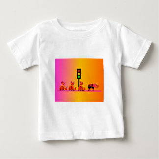 Moody Stoplight with Heart Caravan, Dreamy Backgnd Baby T-Shirt