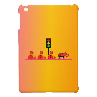 Moody Stoplight with Heart Caravan, Dreamy Backgnd iPad Mini Covers