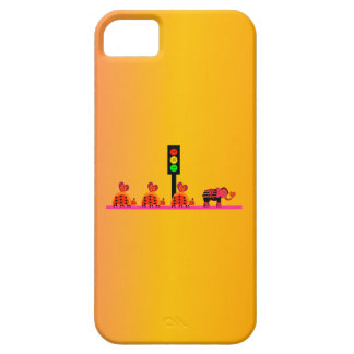 Moody Stoplight with Heart Caravan, Dreamy Backgnd iPhone 5 Cover
