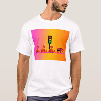 Moody Stoplight with Heart Caravan, Dreamy Backgnd T-Shirt
