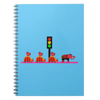 Moody Stoplight with Heart Caravan Notebooks