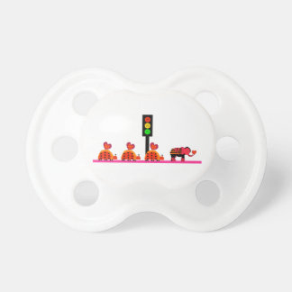 Moody Stoplight with Heart Caravan Pacifier