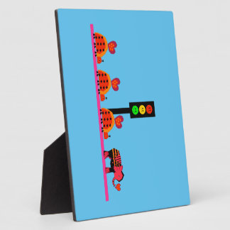Moody Stoplight with Heart Caravan Plaque