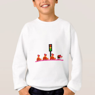 Moody Stoplight with Heart Caravan Sweatshirt