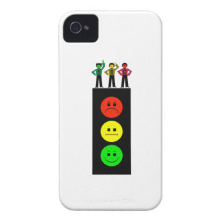 Moody Stoplight With Moody Stoplight Trio iPhone 4 Cover