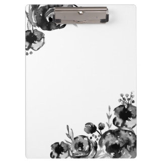 Moody Watercolor Floral ClipBoard