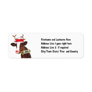 Mooey Merry Christmas Reindeer Cow
