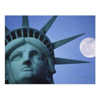 Moon Above Statue Postcard