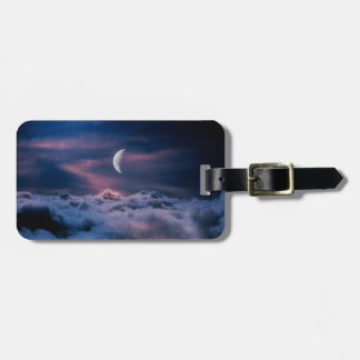 Moon Above the Clouds Luggage Tag