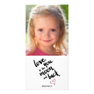 Moon and Back | Valentine's Day Photo Card