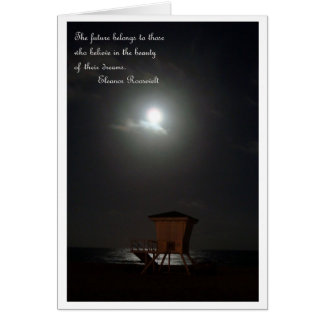 moon and cabana and quote card