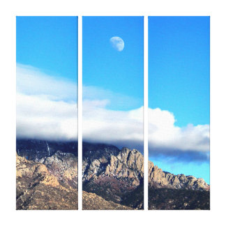 Moon and Clouds Over Sandias Canvas Print
