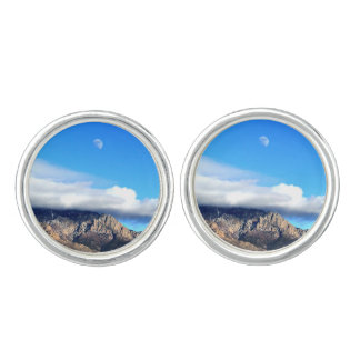 Moon and Clouds Over Sandias Cufflinks
