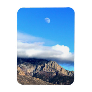 Moon and Clouds Over Sandias Rectangular Photo Magnet