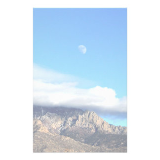 Moon and Clouds Over Sandias Stationery