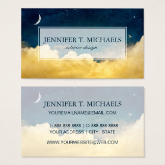 Moon And Cloudscape Business Card