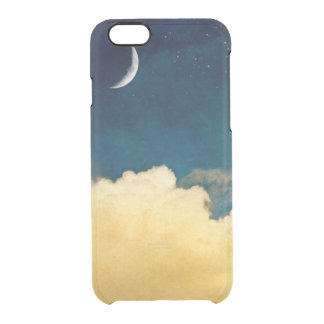 Moon And Cloudscape Clear iPhone 6/6S Case