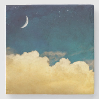 Moon And Cloudscape Stone Coaster