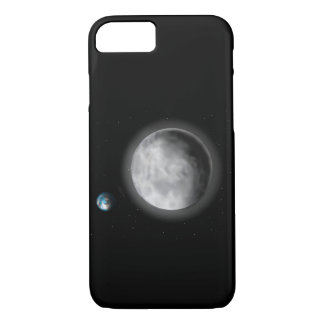 Moon and earth cell phone case