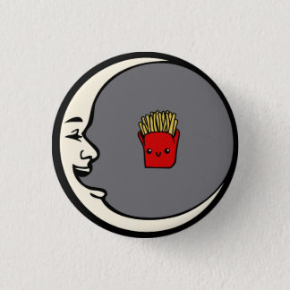 Moon and Fries Pin