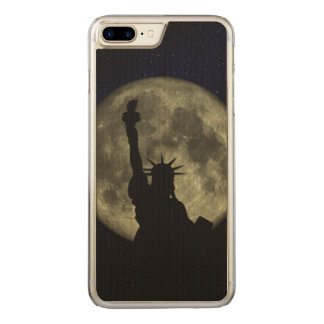 Moon and Lady Liberty Carved iPhone 8 Plus/7 Plus Case