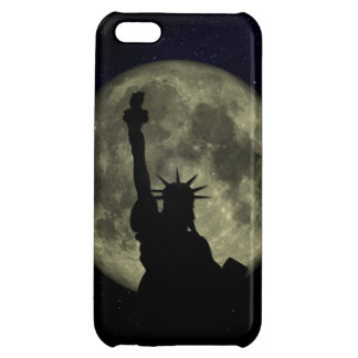 Moon and Lady Liberty Cover For iPhone 5C