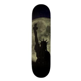 Moon and Lady Liberty Custom Skate Board