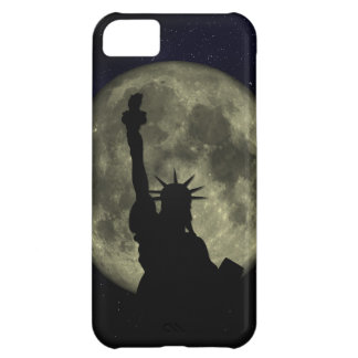 Moon and Lady Liberty iPhone 5C Covers