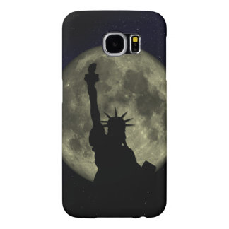 Moon and Lady Liberty Samsung Galaxy S6 Cases