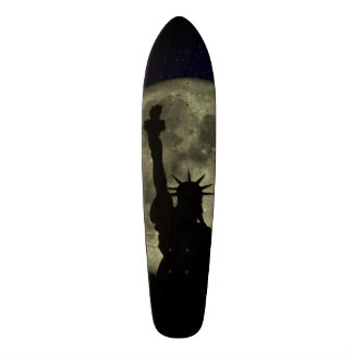 Moon and Lady Liberty Skate Board Decks