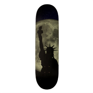 Moon and Lady Liberty Skateboard Decks