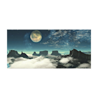 Moon and Landscape Canvas Print