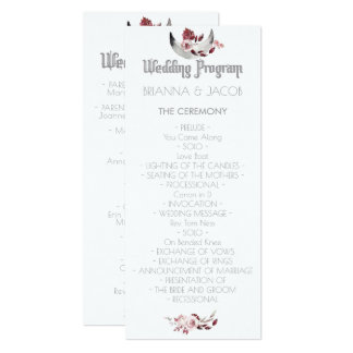 Moon And Raven Watercolor Wedding Program