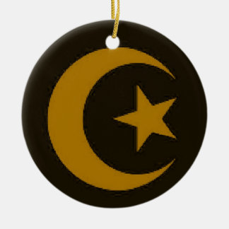 Moon and Star gold ornament