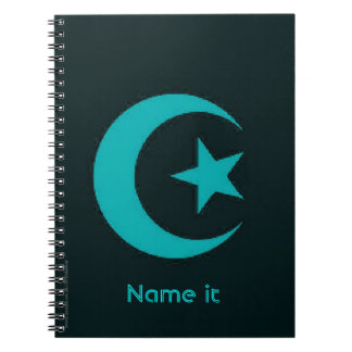Moon and Star Islamic Note Book