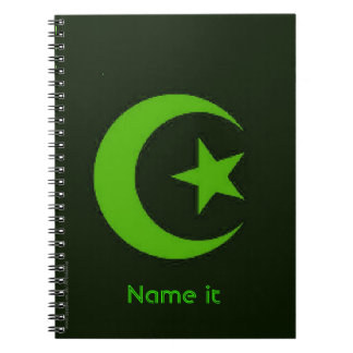 Moon and Star Islamic Notebook