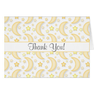 Moon and Stars All Occasion Thank You Note Card