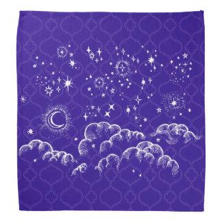 """Moon and Stars"" Bandana Moroccan (WH/BLU/PUR)"
