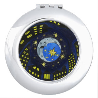 Moon and Stars Compact Mirror