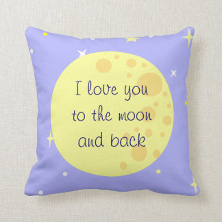 Moon and Stars Customizable Pillow
