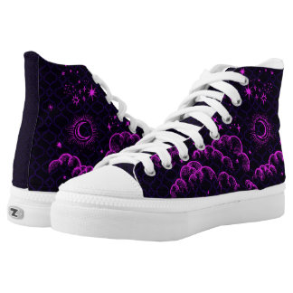 """""""Moon and Stars"""" High Tops Shoes (PK/BLK/PUR)"""