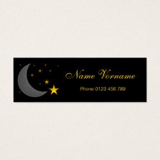 Moon and stars mini business card