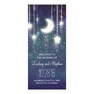 moon and stars navy wedding program