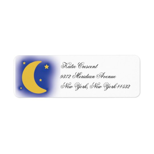 Moon and Stars Return Address Labels