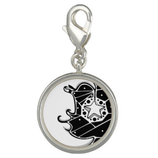 Moon and Stars Stained Glass Charm