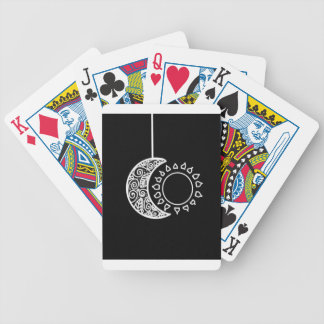 Moon and sun bicycle playing cards